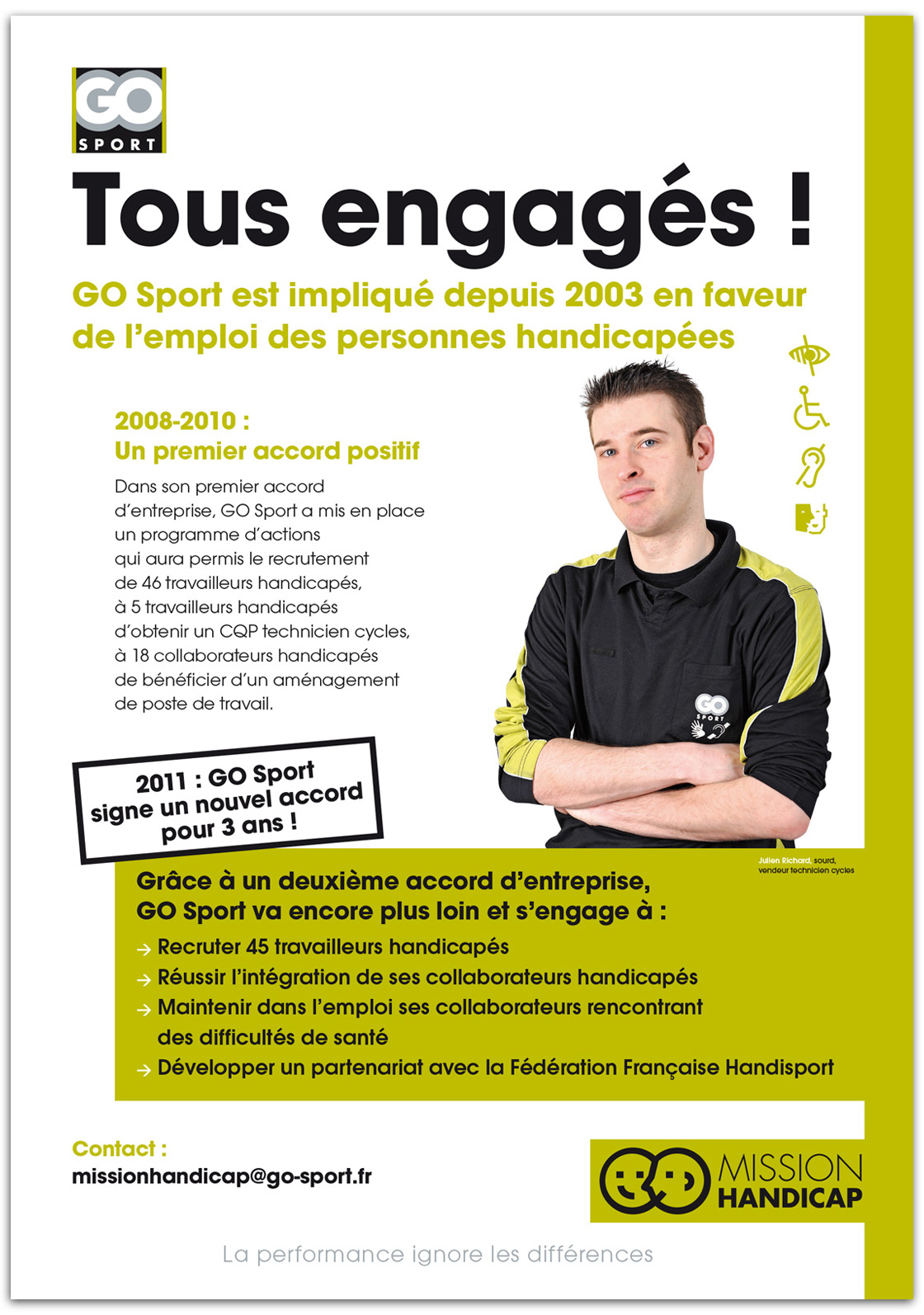Campagne institutionnelle en faveur de l'emploi des personnes handicapées